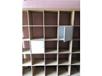 Ikea shelving unit, used few marks but good condition. Already dissembled ready for collection.