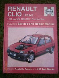 Haynes Renault Clio Diesel 3031 1991 to 1996 Manual