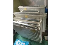 6 no. white steel radiators. Newish. £5 each or £30 for all.