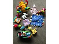 Large bundle of baby toys incl little tykes, ELC, taggies etc