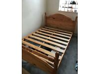 Double bed and cot