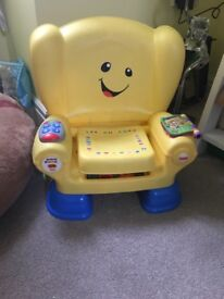 Barely used & in excellent condition. Chair talks & sings entertaining your little ones.