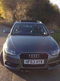2013 Audi A4 Avant 2.0 TDI 150 SE Technik sunroof alloys leather seats automatic Grey 51200 miles