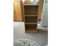 Light beech bookcase