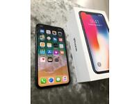 Iphone x 64gb unlocked cracked screen working
