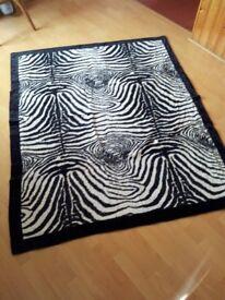 zebra sofa throw overs x3 and cushions