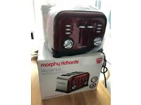 Red Morphy Richards Accents Toaster