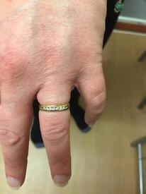 9 ct gold channel set Diamond ring .10 carat Wedding/Eternity /Dress ring