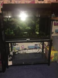 Juwel fish tank, with inbuilt filter and powerhead and metal stand