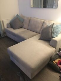 DFS light grey chaise sofa (left or right hand facing)