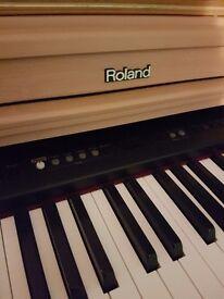 ROLAND hp103e piano and stand