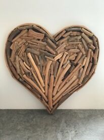 Decorative drift wood heart.