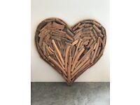 Decorative drift wood heart.