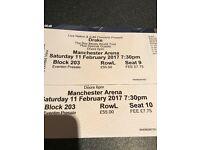 2 x Drake tickets Manchester 11th Feb