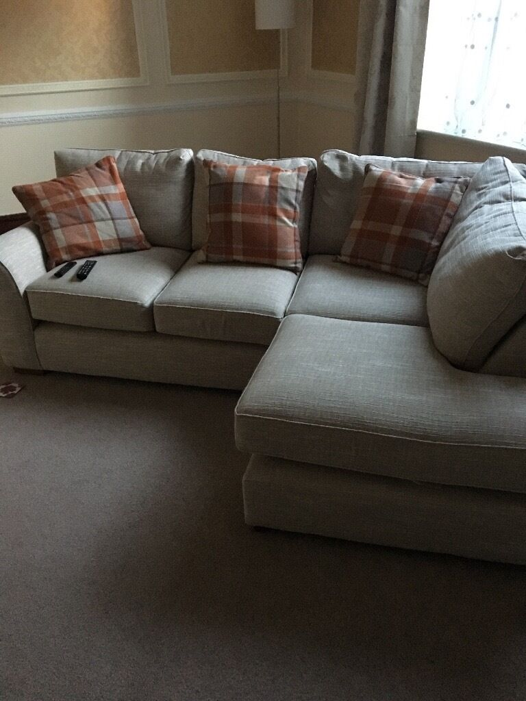 Next sofa Michigan style with left side chez longe 8 months old move forces sale