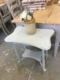 Shabby chic antique hall table