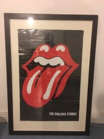 1989 Classic Rolling Stones poster Framed