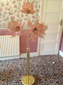 Tall gold flower lamp