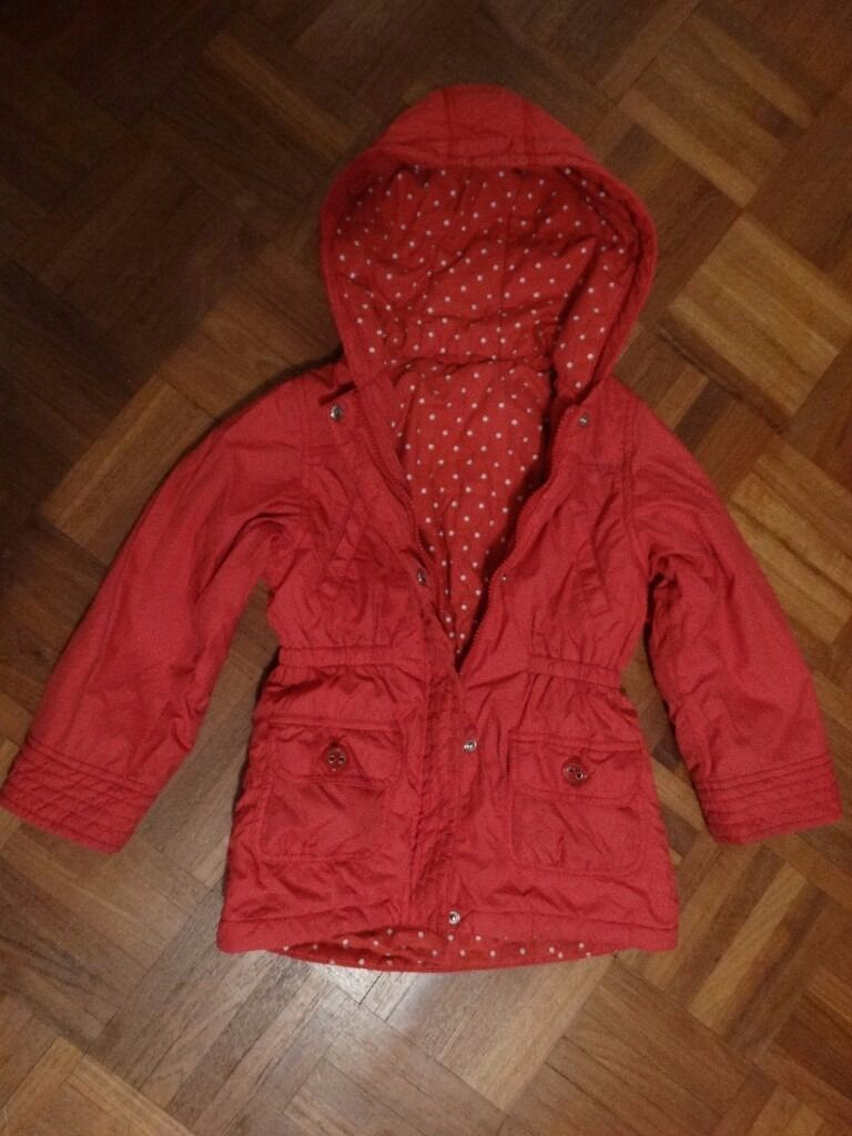 Marks & Spencer girl's padded coat - red 5-6 yrs