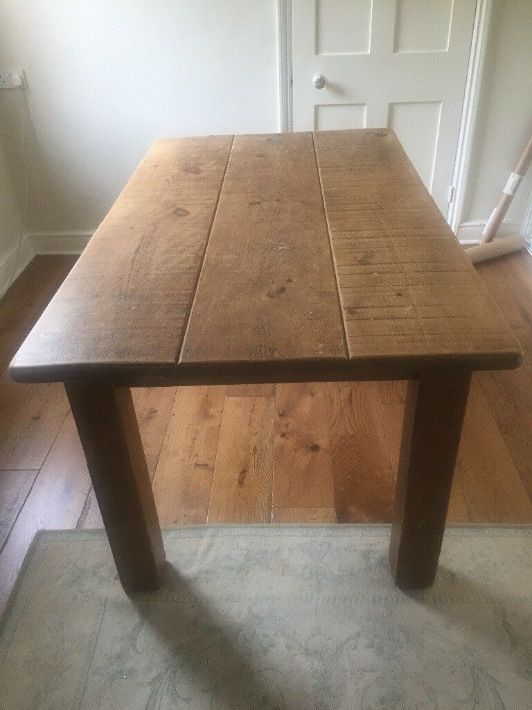 Chunky farmhouse dining table - seats 6
