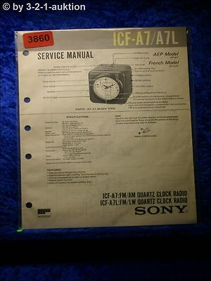 Original Service Manual Sony Icf-a6500 A6500l Tv, Video & Audio