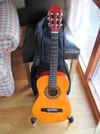 Half size acoustic guitar