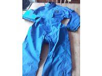 Blue ladies one-piece waterproof suit - Size XS - Fits UK 8-10 - Never worn