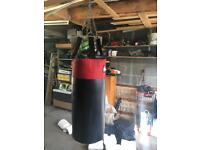 Punchbag, fixing and mitts.