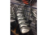 CALLAWAY X-14 IRONS. 3-SW. STEEL SHAFTS.