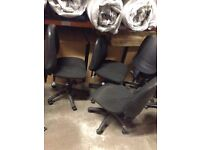 Adjustable Black Office Chairs