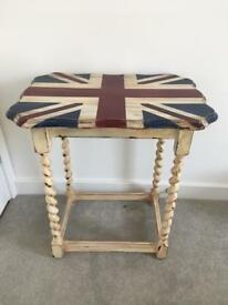Vintage, Union Jack side table