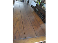 Table, Dining Table, Solid Oak, Refectory Style, Excellent Used Condition