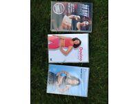 3 workout DVDs 2 x Davina