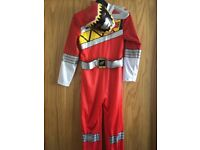 Power Rangers outfit with mask age 9-10 world book day