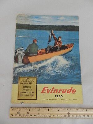 VINTAGE OUTBOARD BROCHURE-1950 EVINRUDE OUTBOARDS- - VINTAGE BOATING