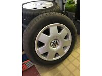 "14.5"" VW wheel rims with part worn tyres"