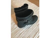 Black rocket dog leather boots size 6
