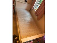 Single bed & mattress - Next bed with heart detail