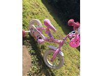 Peppa pig bike and helmet