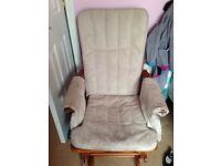 Nursing chair with stool
