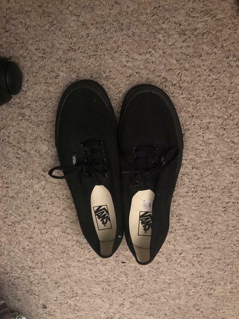 9b92d8f4a188 Black vans size 9