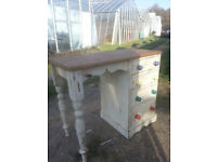 Upcycled, shabby chic, pine desk or dressing table.