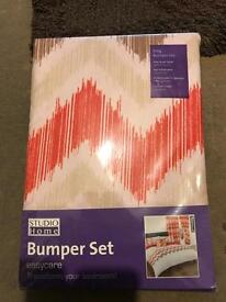 King size duvet and curtain bumper set