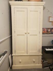 Solid Wood Painted Pine Bedroom Furniture. Wardrobe Dressing Table. Tallboy. Cabinet.