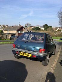 Peugeot 205 Auto 1.6 Late 1996 P reg, low miles, rare colour, 12 months MOT. Great car!