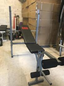 Adjustable Standard Weights Bench with Leg Extension - Weights Gym