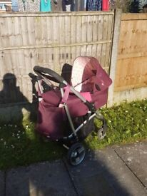 3 in 1 cosatto travel system pink