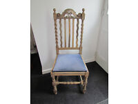 Vintage high back dining chair