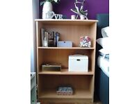 Beech Finish Strong Bookcase Bedroom Contemporary Furniture