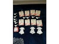 Wedding Vintage post card table numbers